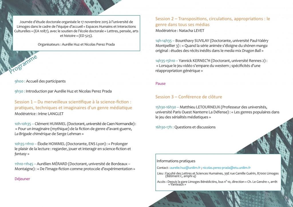 Programe Genres littéraires et fictions médiatiques p2